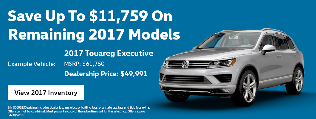 Save On Remaining 2017 Models